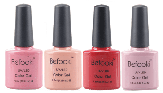 Befooki - Collection of Nail Color Gel Polish